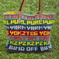 knitwords tote bag
