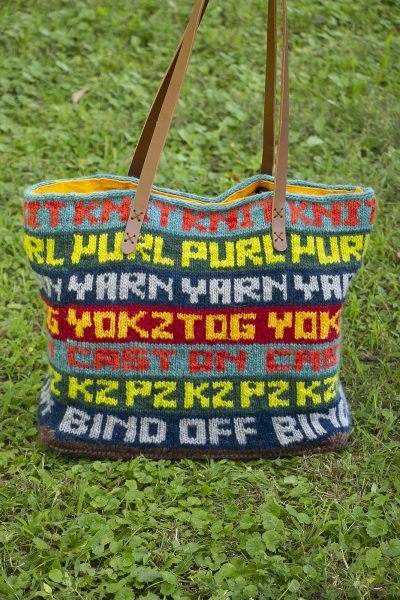 knitwords tote bag