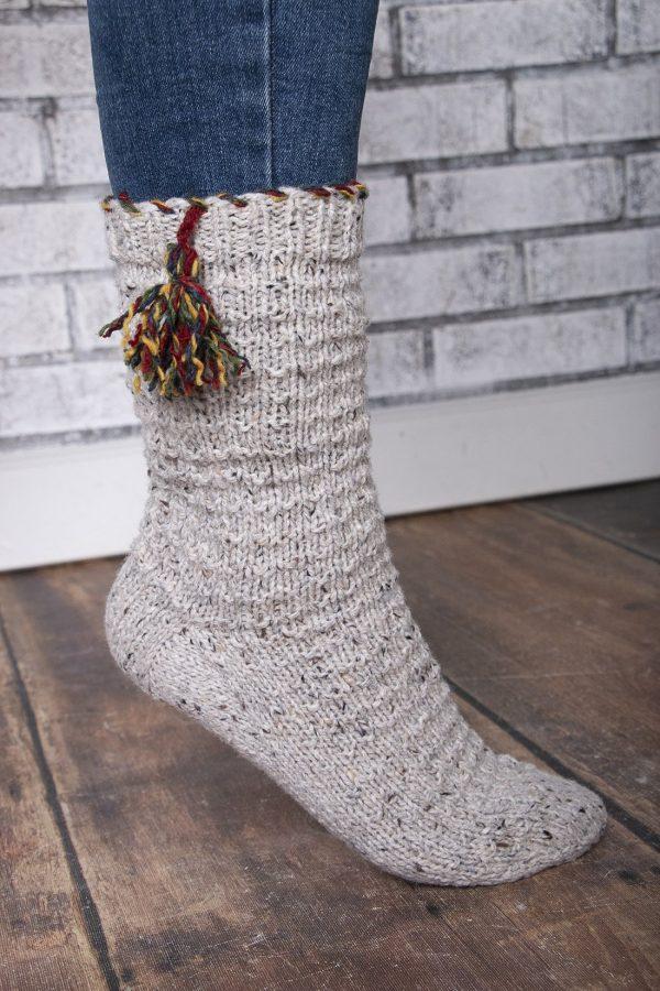 up north cabin socks trim