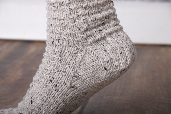 up north cabin socks heel