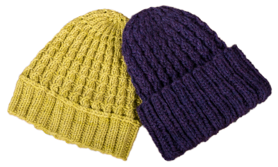easiest cabled hat 2-colors