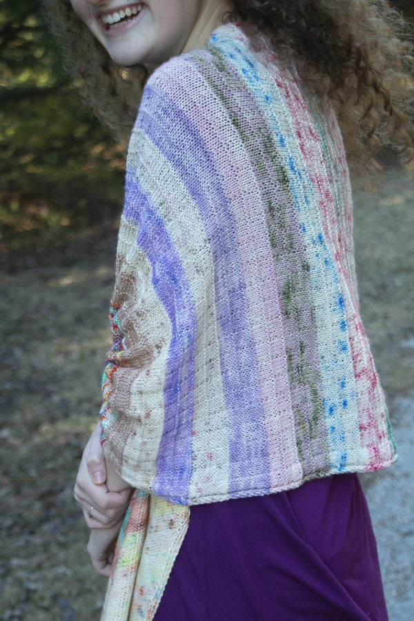a very merry mix up shawl shoulders