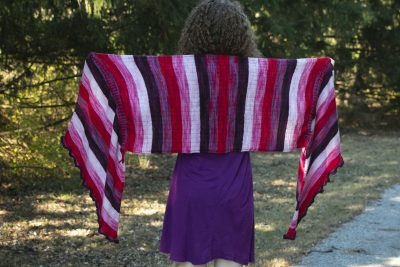 a very merry mix up shawl full