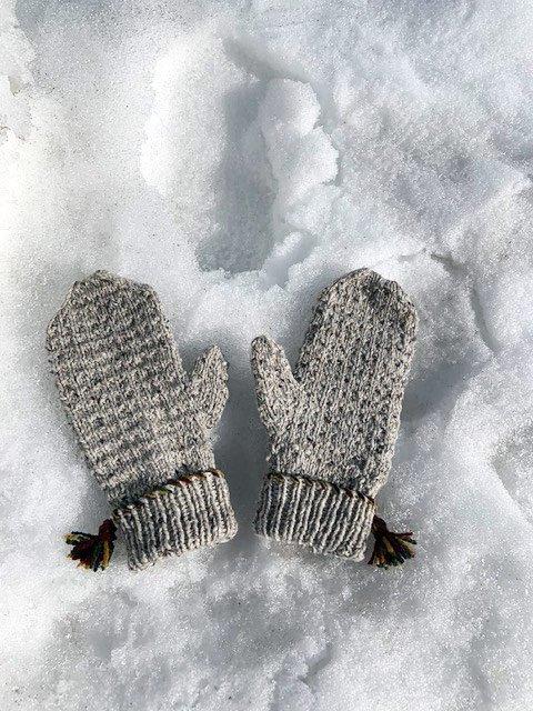 up north cabin mittens snow
