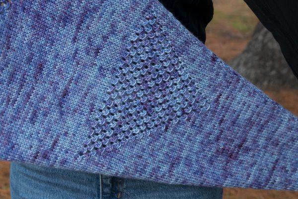 kite tail shawl worsted detail
