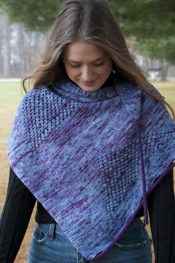 kite tail shawl worsted