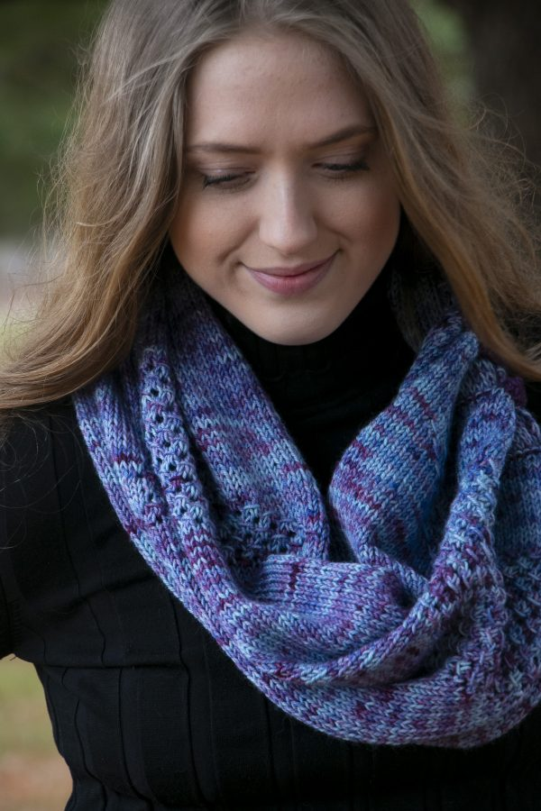 kite tail shawl worsted cowl wrap